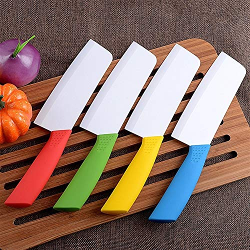 1 PCS cuchillo de cerámica de cocina cuchillo de la fruta de cerámica de óxido de zirconio regalos cuchillos del cocinero del cuchillo de sashimi de carne (Color : Yellow)