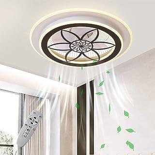 N / A Ventilador de Techo Invisible con Sala de Estar luz LED luz de la habitación Techo Nordic, luz con una casa de Ventilador de Techo con la Velocidad del Viento a una Distancia Regulable lu.