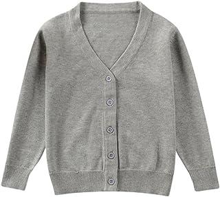 8df68740f QUICKLYLY Cárdigan Suéter de Punto para bebés niña niño Chaquetas y Abrigos  Ropa de Tejer