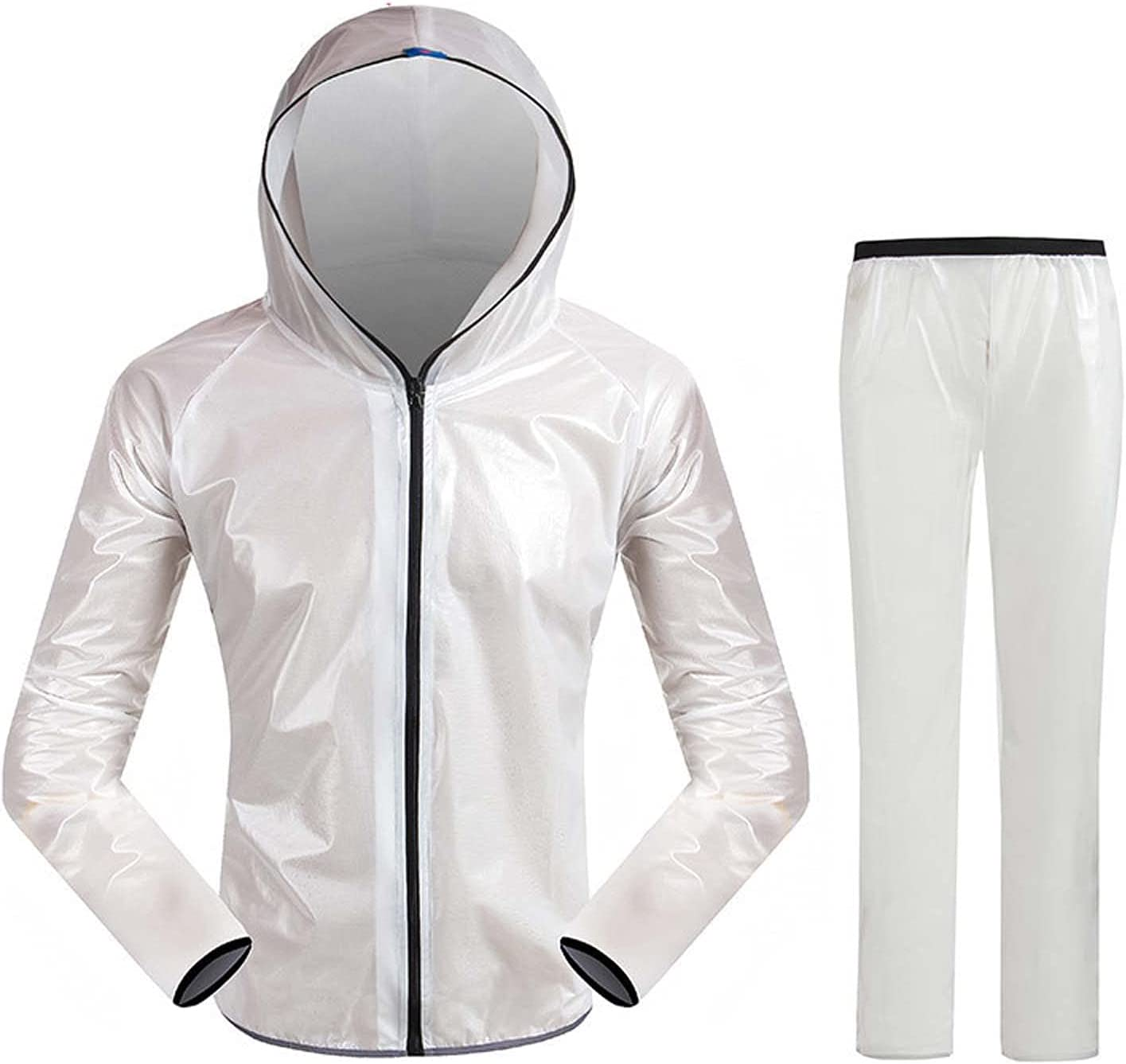 FHGH Adult Split Raincoat, Waterproof Cycling Raincoat and Trousers, for Cycling Climbing Fishing Takeaway,C,Medium