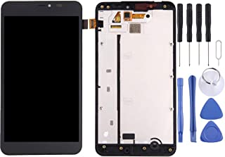 Lingland cell phone kit LCD Screen and Digitizer Wide Assembly with Frame for Microsoft Lumia 640 XL(Black) Screen overall...