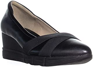 Naturalizer Womens Harlyn Leather Closed Toe Wedge Pumps