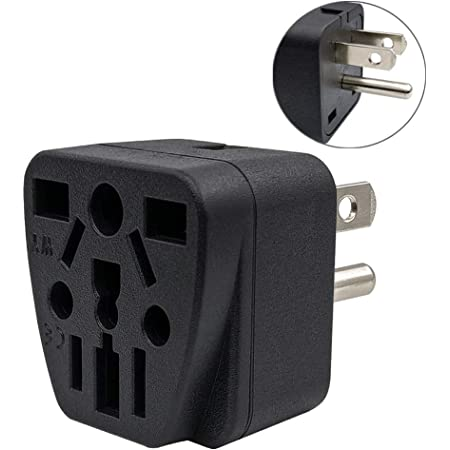 UK Male Plug To 3-Prong US Plugin Power Adapter Outlet Converter AU 3-Pin EU