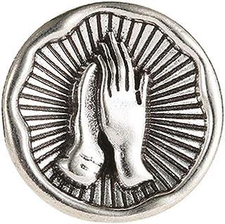PULABO - Broche de personalidad vintage para bendición de la Virgen con la oración de la mano Patern broche insignia traje...