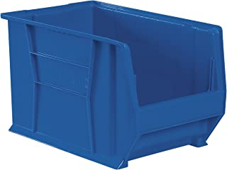 Akro-Mils 30283 20-Inch D by 18-Inch W by 12-Inch H Super Size Plastic Stacking Storage Akro Bin, Blue
