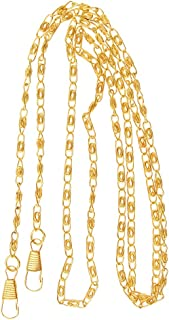 Dolity Flat Chain Straps Handbag Chains Straps Bag Replacement Straps With Buckle