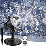 Double Gift Christmas Snowflake Projector Lights Led Snowfall Show Outdoor Weatherproof Landscape Decorative Lighting for Xmas Holiday Party Wedding Garden Patio