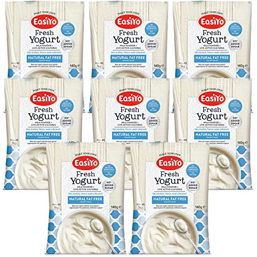 EasiYo Fat Free Natural Yogurt Mix 8 x 140g Sachets