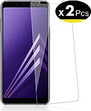 NEW'C Lot de 2, Verre Trempé pour Samsung Galaxy A8 (2018) Film Protection écran - Anti Rayures - sans Bulles d'air -Ultra Résistant (0,33mm HD Ultra Transparent) Dureté 9H Glass