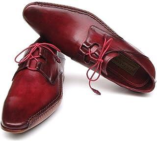 Paul Parkman Men's Ghillie Lacing Side Handsewn Dress Shoes Burgundy