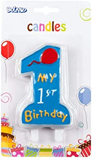 Boland 63411 – Bougie My 1st Birthday, Bleu