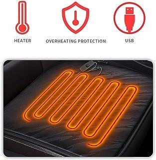 Cihely Sitzheizung Auto Heizkissen 12V Beheizte Sitzauflage Konstante Temperatursicherheit Kontrolleur Universal Vordersitz Heizauflage schwarz für Auto Haus