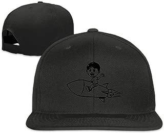 Classic Boy Riding Rocket Flat Bill Trucks Hats Visor Baseball Cap Low Profile