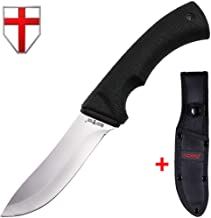 Grand Way Tactical Knife - Survival Bushcraft Fixed Blade Knife with Elastron Handle for Hunting and Fishing - Best Bowie Big Blade Knife for Self Defense 01085