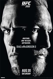 Pyramid America Official UFC 202 Nate Diaz vs Conor McGregor 2 Sports Cool Wall Decor Art Print Poster 12x18