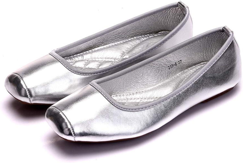 Phil Betty Women Flats shoes Square Toe Non-Slip Fashion Flats Ballet shoes