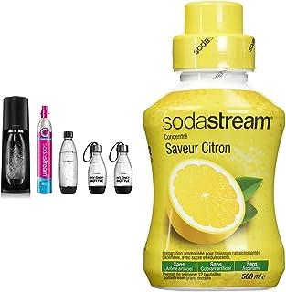 Sodastream Pack avec Machine à Eau Pétillante et Soda Terra Noire, 1 Bouteille + Sodastream Concentré Saveur Citron – Sans...