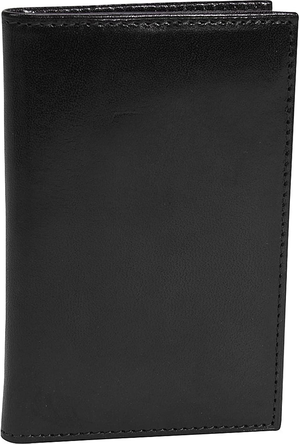 Bosca Old Leather Collection  8 Pocket Credit Card Case Black Leather