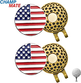 CHAMPMATE Golf Ball Markers, with Magnetic Golf Hat Clip, Attaches Easily to Hats