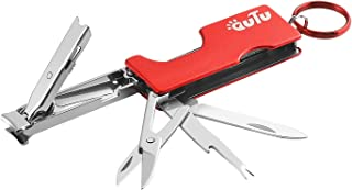 OUTU Medical Grade Stainless 4-in-1 Red Hardware Pocket Manicure Multi-Tool Pocket Nail File Key Chain, Home Outdoor Campi...