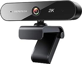 Webcam with Microphone for Desktop, DEPSTECH 2K QHD USB Web Cam with Auto Light Correction, Desktop Computer Camera Stream...