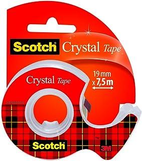 Scotch - 3M Crystal - Ruban Adhésif, Transparent, 19 mm x 7,5 m