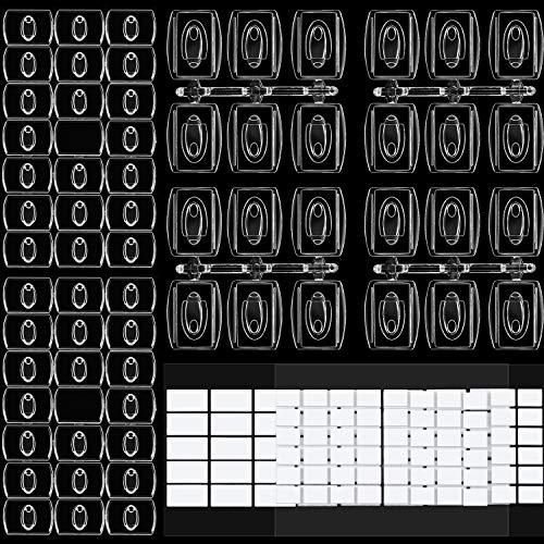 60 Stück Mini Klare Haken zum Verzieren, Urlaubslicht Haken, Clip für Lichterketten, Multifunktion Dekoration zum Aufhängen von Clips für Zuhause, Schule Draussen (Größe B)