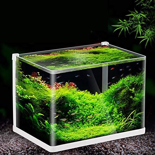 MYYYYI Fischbecken, Heißer Gekrümmter Superweißer Offener Oberer Tropischer Fischtank, LED-Beleuchtung Mit Filter, Klares Glas Aquarium Für Den Hausgebrauch 500