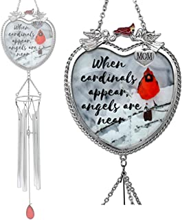 BANBERRY DESIGNS Memorial Wind Chime for Mom - When Cardinals Appear Angels are Near - Windchimes for The Loss of a Mother