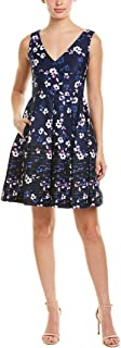 Women's Sleeveless Border Printed Fit and Flare Dress