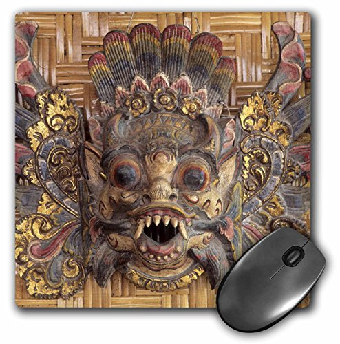 3drose Indonesië, Bali, Ubud, Barong masker, Souvenir – AS11 jme0098 muispad, 20,3 x 20,3 cm (MP 72679 1)
