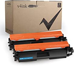 V4INK Compatible Toner Cartridge Replacement for HP 17A CF217A 217A with chip(Black, 2-Pack) for use in HP Laserjet Pro MFP M130fw M130nw M130fn M130a M102w M102a M130 M102 Printer
