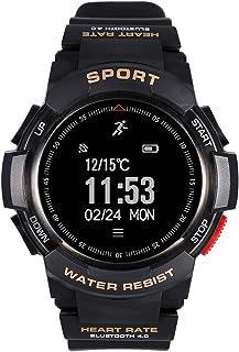 H&YL Pulsera Actividad,Fitness Tracker con Pulsómetro Impermeable Smartwatch Monitor De Sueño Podómetro Contador De Caloría Pulsera Actividad Pulsera Inteligente para Android Y iOS,Black