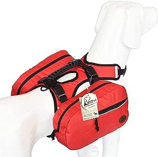 OSPet Saddle Bag Backpack for Large Dog, Detachable Pack Instantly Turns into Harness, Adjustable Tripper Hound Saddlebag Travel Hiking Camping