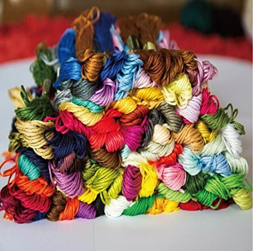 Wanky Embroidery Max 77% Courier shipping free shipping OFF Floss 100 Thread Each Skeins(26ft Rainbow