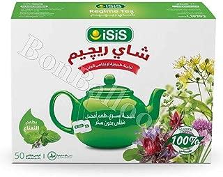 Isis Regime Tea Weight Loss Reducing Slimming Herbs Blend 25-300 Tea Bags 384 (Flavor Mint 100 Bags) (Mint Flavor 100 Bags)