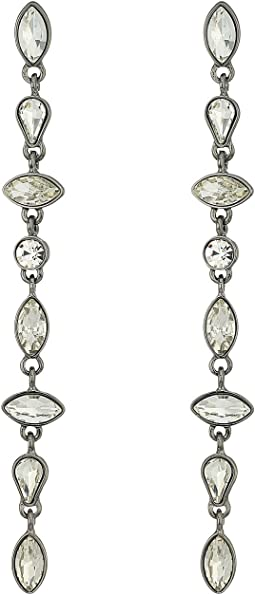 GUESS - Mixed Shape Stone Linear Earrings