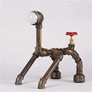 Lampe de Table Lampe de Table en métal de Tuyau de Feng Shui de l'industrie créative, Lampe de Tube de Forme de Chien, Lam...