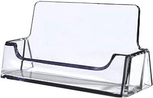 Tag Plastics - Clear Acrylic Business Card Holder Display Office Business Card Holder Business Card Stand Business Card Desk Holder, Fits 30-50 Business Cards (1)