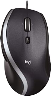Logitech M500 Wired USB Mouse, High Precision 1000 DPI Laser Tracking, 7 Buttons, PC / Mac / Laptop - Black