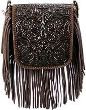 Montana West Genuine Leather Handcrafted Crossbody Handbag Purse Light Bundle