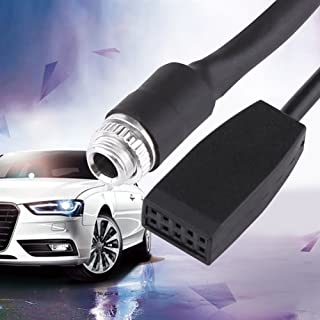 Aux Audio Cable for BMW,in Car Female Jack 3.5mm AUX Input CD Adapter Changer Cable for BMW E39 E53 X5 E46 Coupe Sedan iPod iPhone MP3 Player 1.5M(Black)