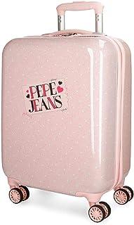 Maleta de cabina Pepe Jeans Olaia rosa rígida 55cm
