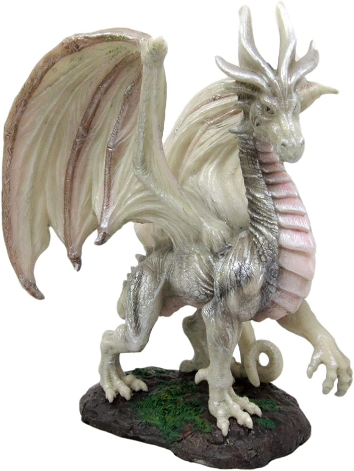 Atlantic Collectibles Mythical Fantasy Battle of Thrones Wise Aged Wraith Hydra Dragon Decorative Figurine 8 Tall