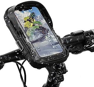 自転車 スマホホルダー 防水 ロードバイク スタンド 収納可能 iphone 自転車用ホルダー 遮光 耐震 360度回転 バイク用スマホホルダーiPhone Android 多機種 画面6.0インチまでのスマホに対応 防水バッグ バイク スクー...