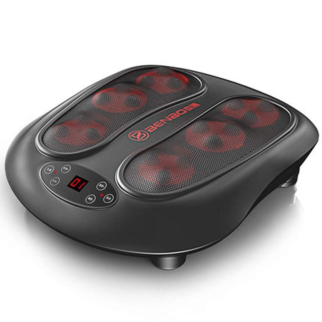 インタフェース鳴り響くエージェントリモコン 足のマッサージ指圧、6dマッサージ、足のマッサージ機電気足マッサージャーと足底筋膜炎の痛みホームオフィス インテリジェント, black