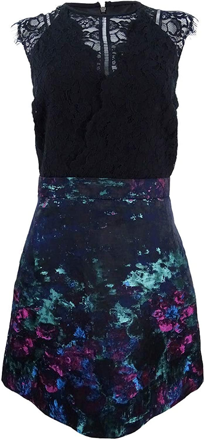 Laundry by Shelli Segal Womens Lace Fit & Flare Cocktail Dress
