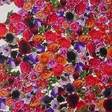 MIRABLAU DESIGN Stoffverkauf Seide Twill Blumen Print Rosen