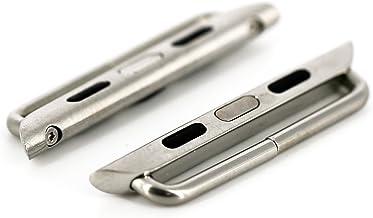 MILLENNION アップルウォッチ/Apple Watch バンドアダプター 交換用ラグ 最大24mm幅のバンドに対応 40mm/44mm シルバー、ゴールド、ブラック全3色 44mm, シルバー