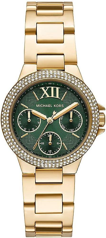 Reloj multifunción Camille para mujer, de Michael Kors, de acero inoxidable en tonos dorados, MK6981